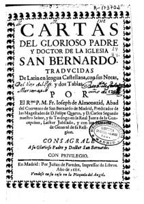 Cartas de San Bernardo